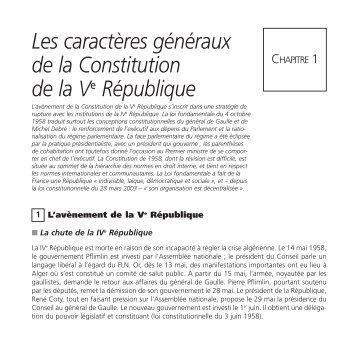 L'essentiel du droit constitutionnel 2, Les institutions de la ... - Numilog