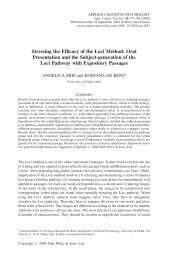 Stressing the efficacy of the Loci method: oral presentation and the ...