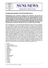 Umgebungsvariablen des Konstruktivismus - Nuni-News - T-Online