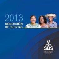 Rendición de Cuentas SBS 2013