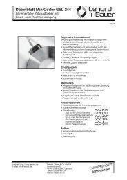 Datenblatt MiniCoder GEL 244 - Nuova Elva