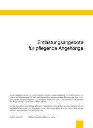Entlastungsangebote für pflegende Angehörige - Landkreis München