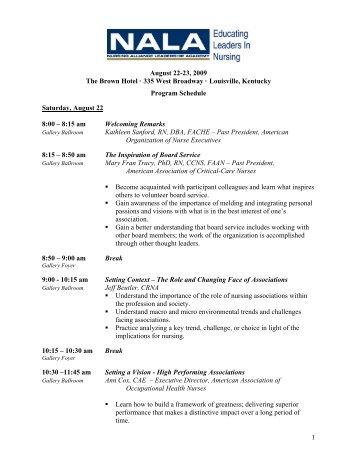 Nursing Alliance Leadership Academy - Nursing Organizations ...