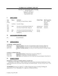 patricia k. lafferty, msn, rn - UCF College of Nursing - University of ...