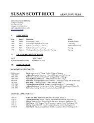 SUSAN SCOTT RICCI ARNP, MSN, M.Ed. - UCF College of Nursing ...