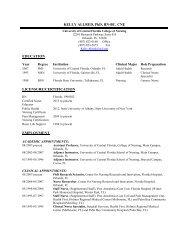 KELLY ALLRED, PhD, RN-BC I. EDUCATION II. LICENSURE ...
