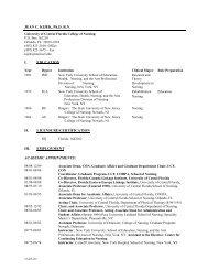 JEAN C. KIJEK, Ph.DRN - UCF College of Nursing - University of ...