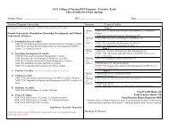 Sample Plan of Study - UCF College of Nursing