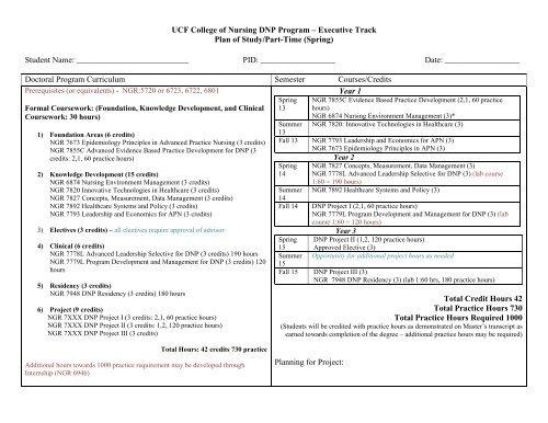 Ucf College Of Nursing >> Sample Plan Of Study Ucf College Of Nursing