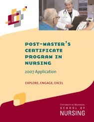 post-master's certificate program in nursing - School of Nursing ...