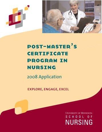 post-master's certificate program in nursing - School of Nursing ...