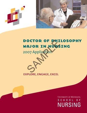 doctor of philosophy major in nursing - School of Nursing ...