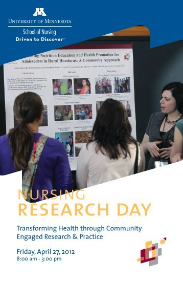 Nursing Research Day E-Brochure - School of Nursing - University ...