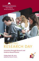 research day - School of Nursing - University of Minnesota
