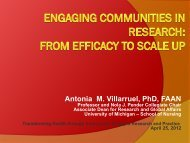 Engaging Communities in Research: From ... - School of Nursing