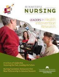 Minnesota Nursing Spring/Summer 2009 - School of Nursing ...