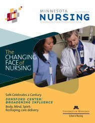 CHANGING FACE of NURSING - School of Nursing - University of ...