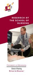 research at the school of nursing - School of Nursing - University of ...