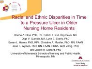 Racial and Ethnic Disparities in Time to a Pressure Ulcer in Older ...