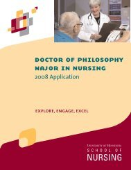 2008 application - School of Nursing - University of Minnesota