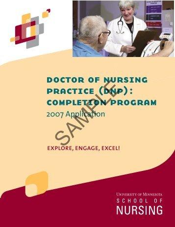 doctor of nursing practice (dnp): completion program - School of ...