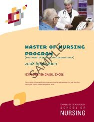 master of nursing program - School of Nursing - University of ...