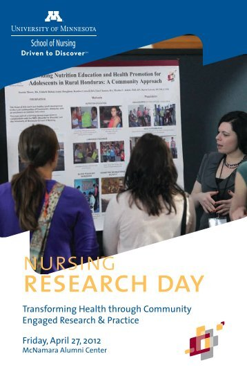 Research Day Conference Program - School of Nursing - University ...