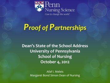 State of the School 2012 - University of Pennsylvania School of ...