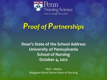 State of the School 2012 - University of Pennsylvania School of ...