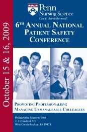 Patient Safety Brochure.pdf - University of Pennsylvania School of ...