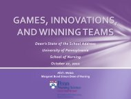 Games, Innovations, and Winning Teams - University of ...