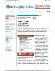 Keeping Patients From Landing Back in Hospital - University of ...