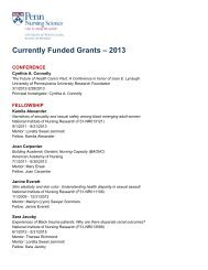 Currently Funded Grants – 2013 - University of Pennsylvania School ...
