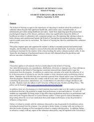 Substance Abuse - University of Pennsylvania School of Nursing