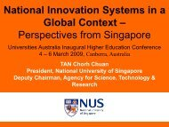 National Innovation Systems in a Global Context
