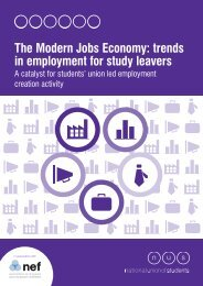 The Modern Jobs Economy: trends in employment for study leavers