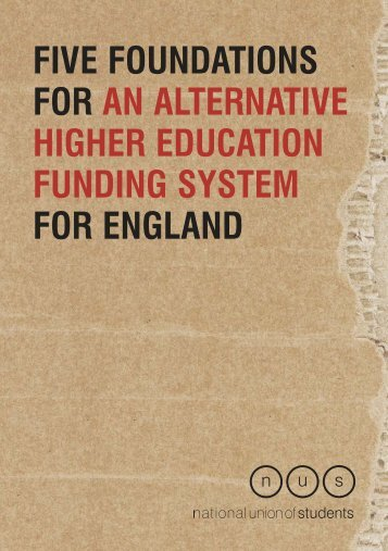 Five foundations for an alternative higher education funding system ...