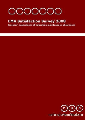 EMA Satisfaction Survey 2008 - National Union of Students