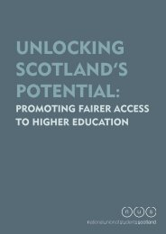 UnlOcking ScOtland'S POtential: - National Union of Students