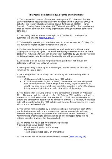 NSS Poster Competition 2012 Terms and Conditions 1. This ...