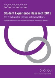Student Experience Research 2012: Part 2 - The Quality Assurance ...