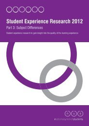 Student Experience Research 2012 - The Quality Assurance Agency ...