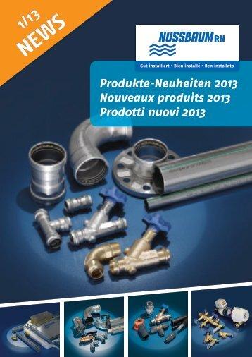 NEWS 1/13 Prodotti nuovi 2013 - R. Nussbaum AG