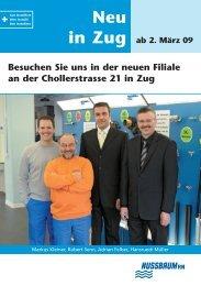 Neu in Zug - R. Nussbaum AG