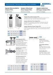 Aquapro-Wasserenthärter Compact PN 6 ... - R. Nussbaum AG