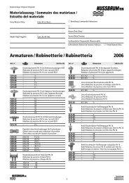 Armaturen / Robinetterie / Rubinetteria 2006 - R. Nussbaum AG