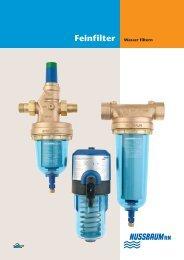 Feinfilter Wasser filtern - R. Nussbaum AG