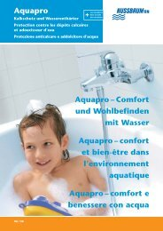 Aquapro Aquapro – Comfort und Wohlbefinden ... - R. Nussbaum AG