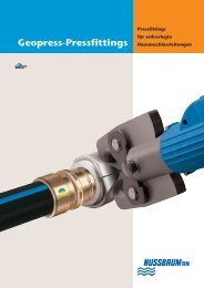 Geopress-Pressfittings - R. Nussbaum AG