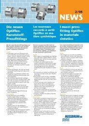 Die neuen Optiflex- Kunststoff- Pressfittings - R. Nussbaum AG